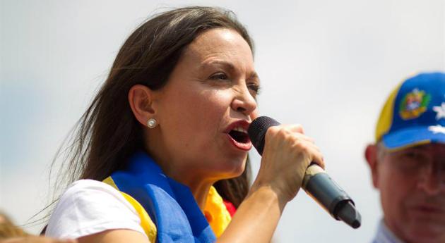María Corina Machado à la Commission Européenne